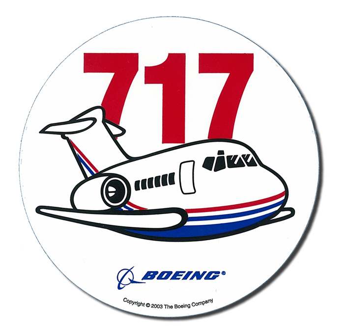BOEING 717 (MD80) PUDGY PLANE STICKER 4