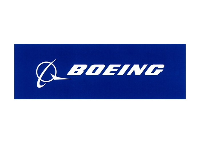 BOEING LOGO ROYAL BLUE STICKER 8