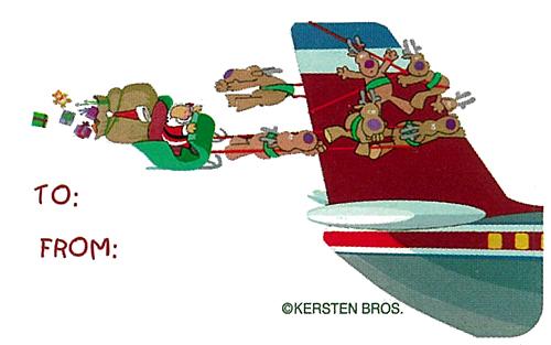 AVIATION THEME CHRISTMAS GIFT TAGS