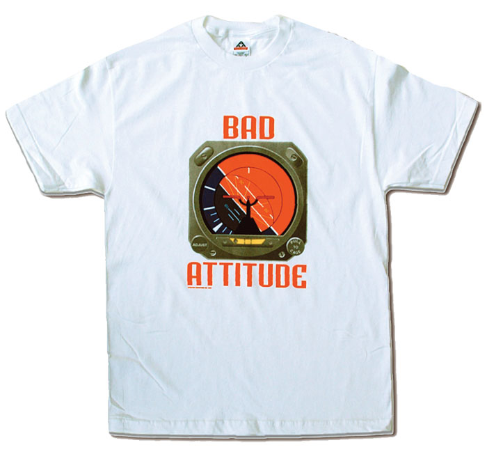 BAD ATTITUDE T-SHIRT WHITE