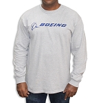 BOEING SIGNATURE T-SHIRT LONG SLEEVE, GRAY