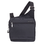 SHOULDER CROSS - BODY BAG - PACKS FLAT - WATER REPELLENT POLYESTER BLACK