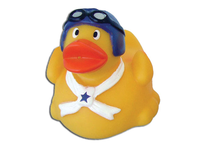 AVIATOR RUBBER DUCK TUB TOY