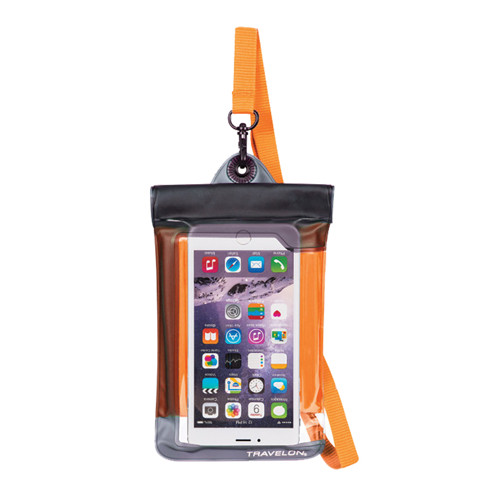WATERPROOF SMART PHONE/DIGITAL CAMERA POUCH ORANGE