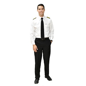 MEN'S PILOT PANTS POLY BLACK