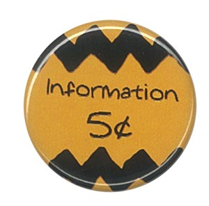 BUTTON PIN INFORMATION 5 CENT