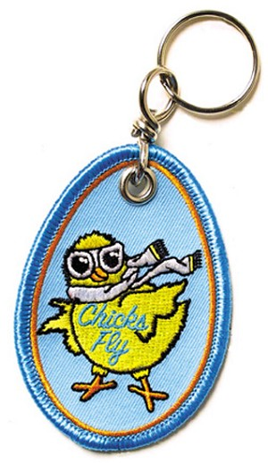KEY CHAIN - CHICKS FLY