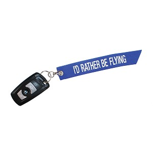 KEY CHAIN- I'D RATHER BE FLYING - 6