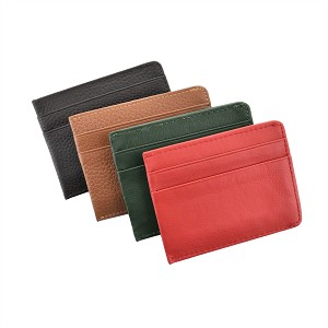 GENUINE LEATHER MAGNETIZED MONEY CLIP WALLET