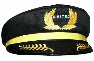 CHILD'S PILOT HAT UNITED AIRLINES