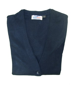 V-NECK CARDIGAN BUTTON UP SWEATER NAVY