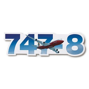 DIE-CUT BOEING PLANE STICKER 11